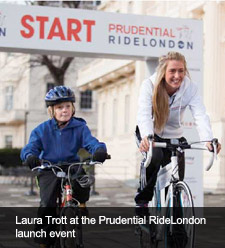 Laura Trott at the Prudential RideLondon launch event
